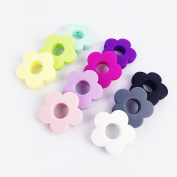 Mamimami Home silicone beads flower holes 20pc silicone small flower 2.5cm teething beads diy beads silicone teether baby teether toy