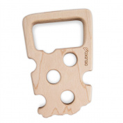 Handmade Natural Maple Wood – eco-friendly Deleko Cheese Teether, Ideal for Children Zahnendes.