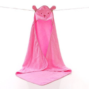 ZHUOTOP Cotton Microfiber Soft Baby Infant Washcloth Bath Towel For Bathing Pink