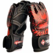 Kagogo Half Finger Taekwondo Training Boxing Gloves Grappling UFC Sparring Fight Punch Ultimate Sandbag Heavy Bag Mitts Sports Fitness Exercise Equipment for Adult Men Women