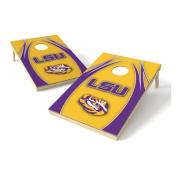 NCAA 2 x 3 Platinum College V Logo Wood Tailgate Toss