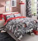 sleepdove® London City King Duvet Quilt Cover With Pillow Case