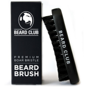 Beard Brush   Premium Quality Boar Bristle   The Best Tool for Beard Grooming   Curved Bristles Help to Easily Shape, Style and Detangle   Designed to Work With Oils, Balms & Waxes