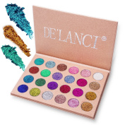 DE'LANCI Glitter Powder Makeup Palette Professional & Long Lasting Eyeshadow Palette & Shimmer Face and Body Makeup Kit