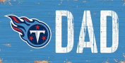 NFL 15cm x 30cm Dad Wood Sign