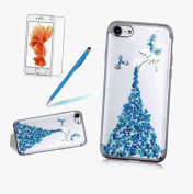 Case for iPhone 7 Plus ,TPU Case for iPhone 7 Plus (14cm ) ,Girlyard [Fairy Angel Girl] Pattern Ultra Thin Transparent Clear Soft TPU Gel Silicone Protective Bumper Case Cover for iPhone 7 Plus 14cm - Angel Blue