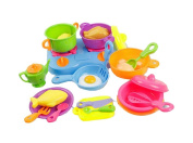 24 PCS Gas Stove Pots And So On Mini Children Kitchen With Toys Set