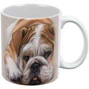 English Bulldog Live Forever All Over Coffee Mug White Standard One Size