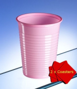 Avenue's Disposable Sleeve of 50 Pink Party Cups. Capacity 200ml. Ideal for kids parties, picnics and all sorts of occasions. Especially for Christenings, Hen Do's and Baby Showers. Includes 2 x AIOS drink mats.