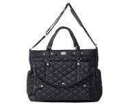 magic Stroller Bag 14 Lady Changing Bag 40 x 35 cm Faux Leather Black