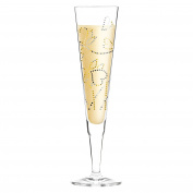 Ritzenhoff 1070241 Champagne Champagne Glass, Crystal, Black/Gold/platin, 7 x 7 x 24 CM