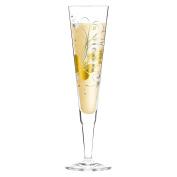 Ritzenhoff 1070243 Champagne Champagne Glass, Crystal, Gold/Platinum, 7 x 7 x 24 CM