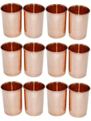 Zap Impex® Copper Glass 100% Pure Copper Tumbler Healing Set of 12