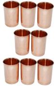 Zap Impex® Copper Glass 100% Pure Copper Tumbler Healing Set of 8