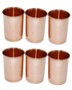 Zap Impex® Copper Glass 100% Pure Copper Tumbler Heilungs Set of 6