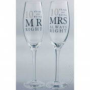 10th Tin Wedding Anniversary gift Pair of Glasses