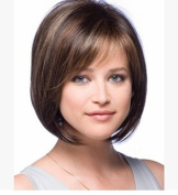 Tonake Women Lady BOBO Wig Short Straight Hair Wig . New Oblique Bang