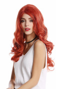 WIG ME UP ® - GF-W2291-T2735-M130M Lady Quality Wig Glamorous Hollywood Diva lang wavy middle parting mix of red