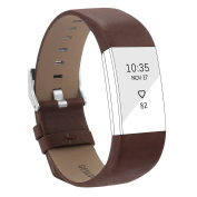 For Fitbit Charge 2 Bands, Genuine Leather Bands for Fitbit Charge 2 Replacement Wristbands