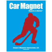 Ice Hockey Player Male Car Magnet Pose 3 Red
