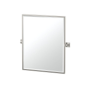 Gatco 4079FSM Elevate Framed Small Rectangle Mirror Satin Nickel Framed Small Rectangle Mirror,, 60cm H,, Chrome