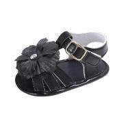 Zolimx Toddler Newborn Crib Shoes Prewalker sandals girl Anti Slip Flowers pearl Princess Baby Shoes