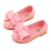 hunpta Toddler Baby Girls Soft Kids Bow Flats Casual Walking Princess Shoes