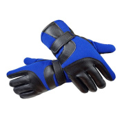QHGstore 1 pair Men's Winter Thickened Warm Sports Gloves Touch Screen Gloves