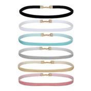 HENGSONG Women's Choker Necklaces Velvet Ribbon Collar Set 6PC Ribbon Adjustable Neck