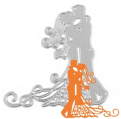 Singleluci Beautiful Bride Cutting Dies Stencil DIY Embossing Scrapbooking Tool