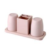 MYtodo Lovers Bathroom Toothbrush Holder Rinse Cup Toothpaste Rack Brush Cups