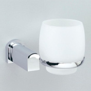Wall Mounted Frosted Crystal Glass Bathroom Tumbler Holder