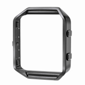 Frame for Fitbit Blaze, Greatgo Replacement Accessory Stainless Steel Protective Metal Frame Housing for Fitbit Blaze Smart Watch, Black