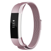 Fitbit Alta HR and Alta Bands, Coukou Milanese Loop Stainless Steel Replacement Metal Band Strap Bracelet for Fitbit Alta HR and Alta, Rose Gold