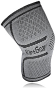 Knee Support Sleeve by RiptGear Single Knee Compression Sleeve for CrossFit Joint Pain Running Arthritis Basketball - Perfect For All Sports & Athletics