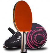 Caleson Table Tennis Racket Ping Pong Paddle,including Carrying Bag