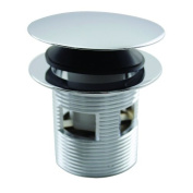 Tip Toe Integrated Overflow Bath Drain in Polished Chrome