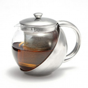 Ardisle 1100ml Stainless Steel Glass Teapot Loose Infuser Coffee Tea Leaf Herbal Clear