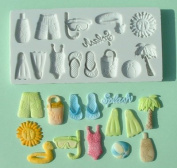 On the Beach - Silicone Icing Moulds for Cake and Cupcake Decoration