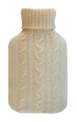 1.8 - 's Homeware Hot Water Bottle with Cover cream