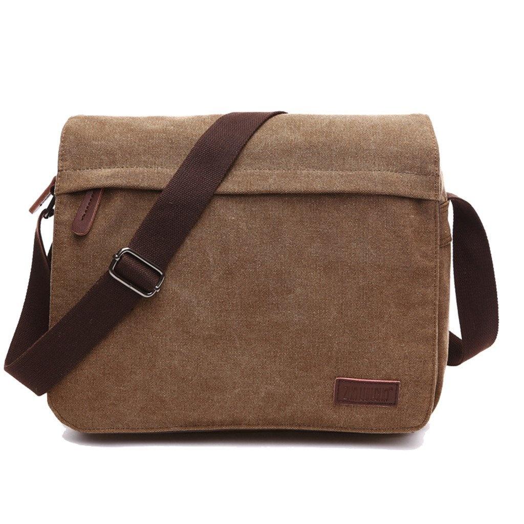 93a0b865d4 SUPA MODERN® Canvas Messenger Bag Shoulder Bag Laptop Bag Satchel Bag  Bookbag School Bag Working Bag Crossbody Bag for Men and Women(36cm Laptop  Bag) by ...