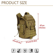 Huntvp 40L Tactical Backpack Military Molle Waterproof Rucksack Waterproof Assault Pack Sack for Hiking Camping Trekking