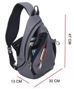 FREEMASTER Shoulder Backpack Sling Chest Bag Sport Rucksack Cross Body Bags for Camping Gym Cycling Biking School Bag Small Shoulder Bag