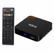 MXG® G4 Android 6.0 TV Box 4K Ultra HD Smart TV Player Quad Core Amlogic S905X Built-in 802.11n WI-FI