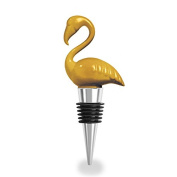 Wild Eye Designs Wine Bottle Stopper, Gold Flamingo