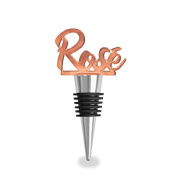 Wild Eye Designs Wine Bottle Stopper, Rose Wine, Rose Gold Finish