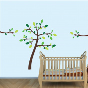 Green and Brown Tree wall Decals for Nursery or Kids room