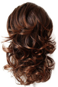 PRTTYSHOP 36cm Hair Piece Pony Tail Extension Draw String Voluminous Curly Heat-Resisting brown mix #4T30 PH7