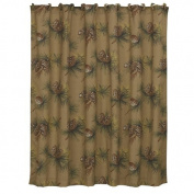 HiEnd Accents Crestwood Pinecone Lodge Shower Curtain