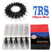 Solong Tattoo Disposable Tattoo Needle Cartridges Spring Drived Round Shader (RS) 10pcs/Box EN03-7RS